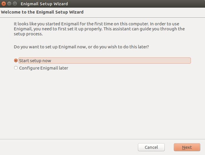 Ubuntu configure enigmail 1
