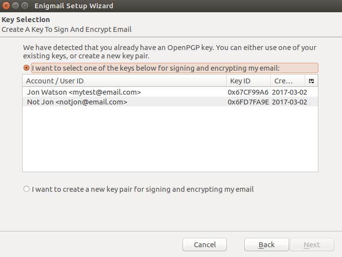 Ubuntu configure enigmail 3