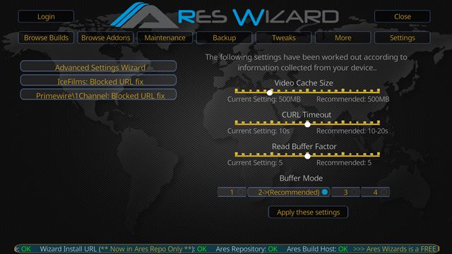 kodi_stop_buffering_ares_wizard_cache_custom_settings