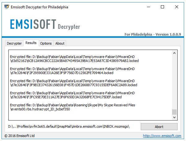 Philadelphia decryptor