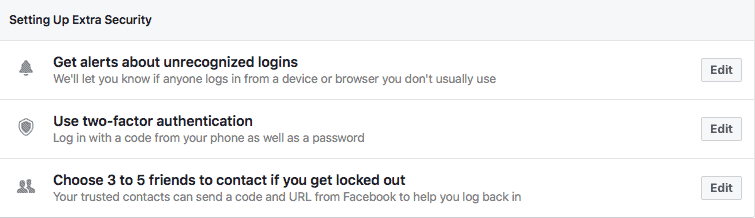 facebook unrecognized logins