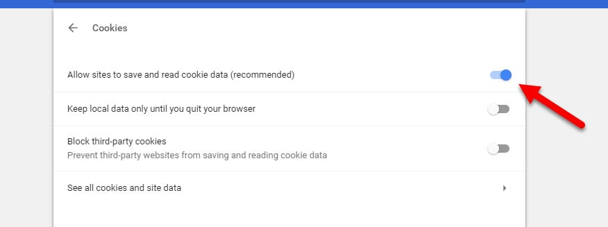 chrome cookie save data