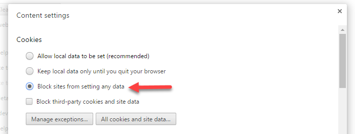 block sites cookies