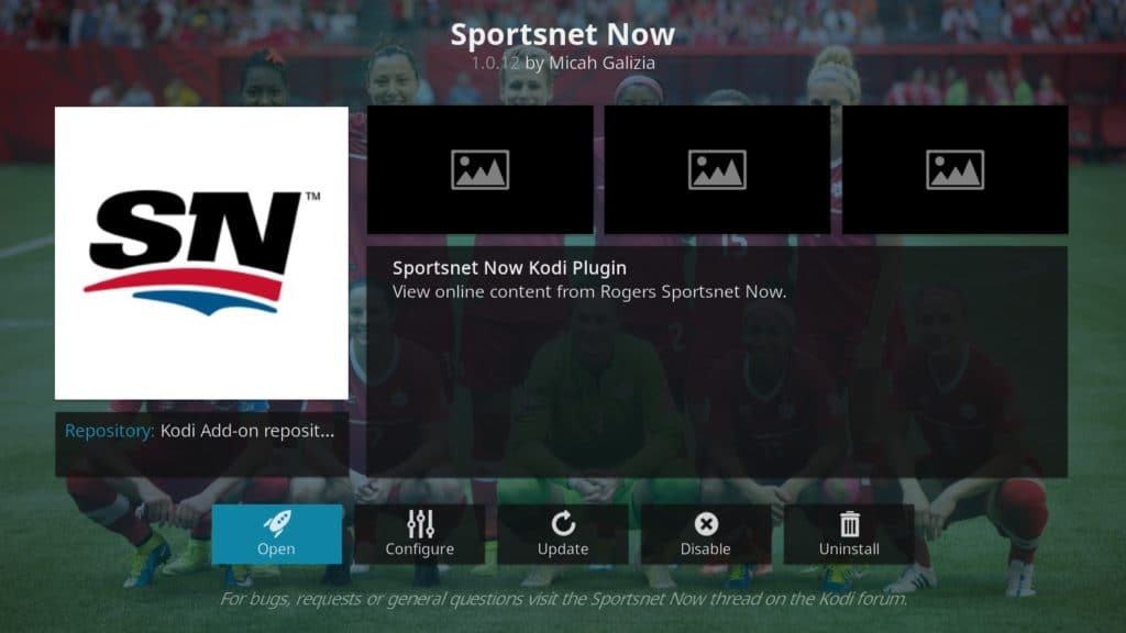 mlb on kodi sportsnet