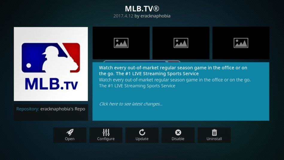 MLB on Kodi MLB.tv