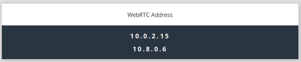 WebRTC check