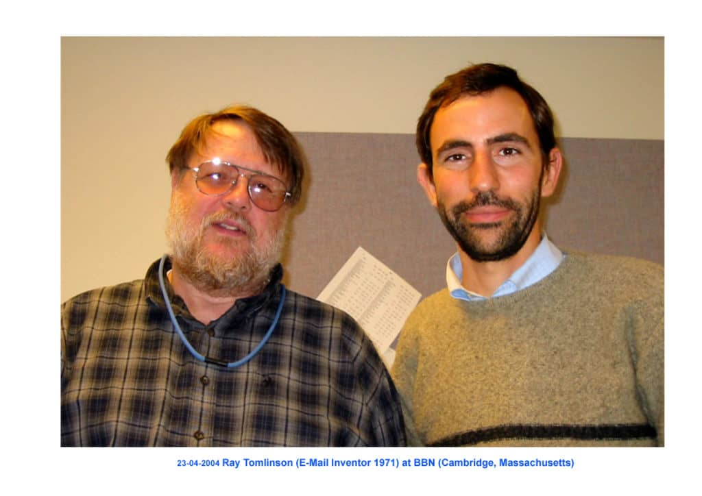 Ray Tomlinson and Andreu Vea