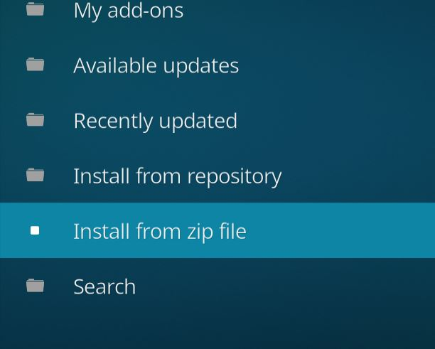 install from zip Kodi