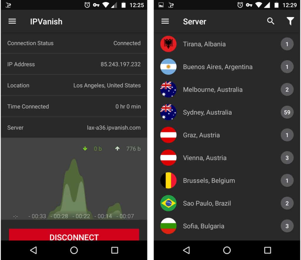 ipvanish android 2017