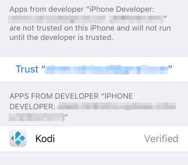 "The ""Trust userID"" screen."