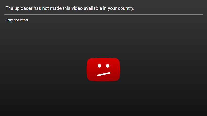 youtube country blocked