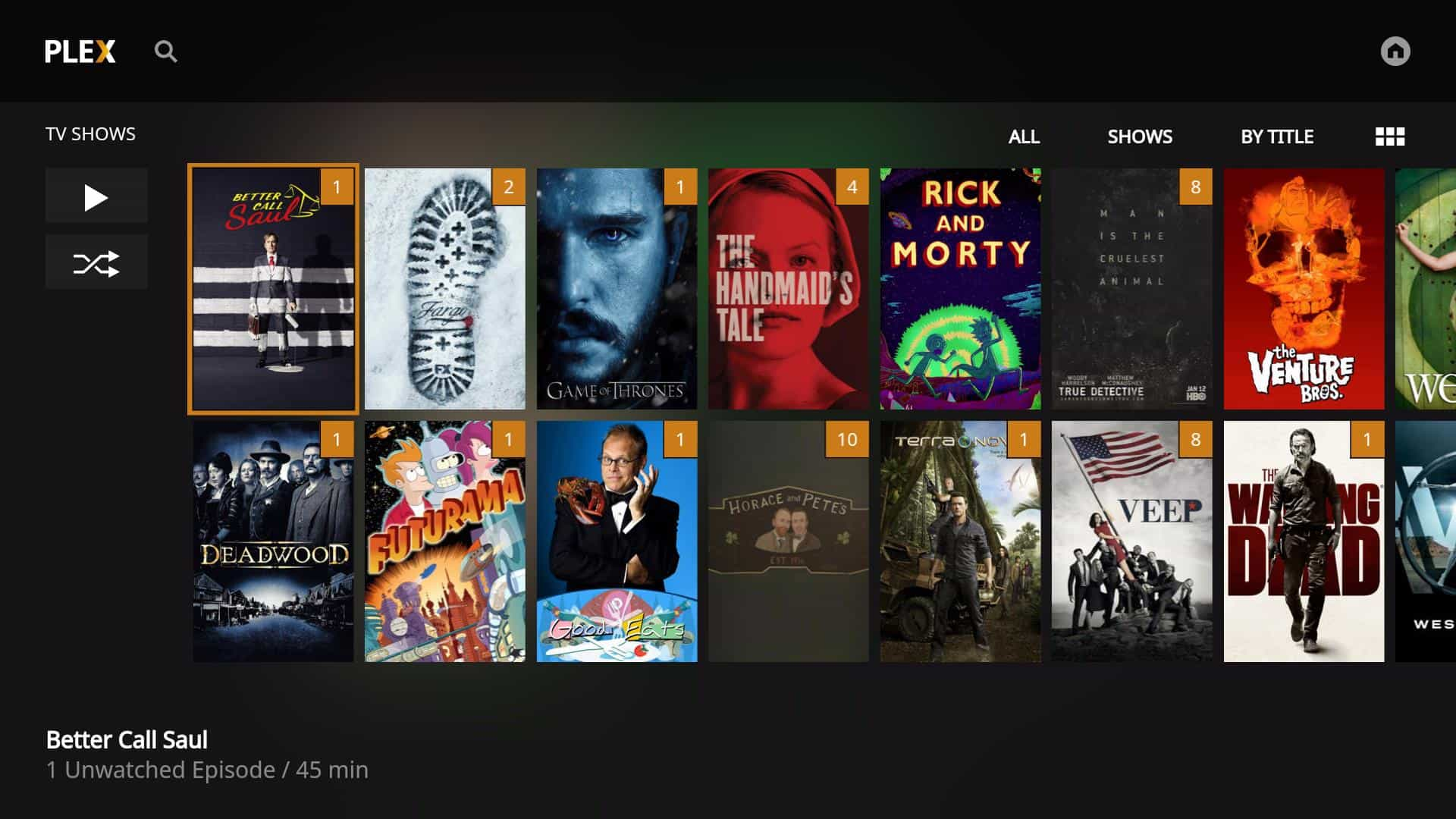Fire TV Plex App - Watch 1