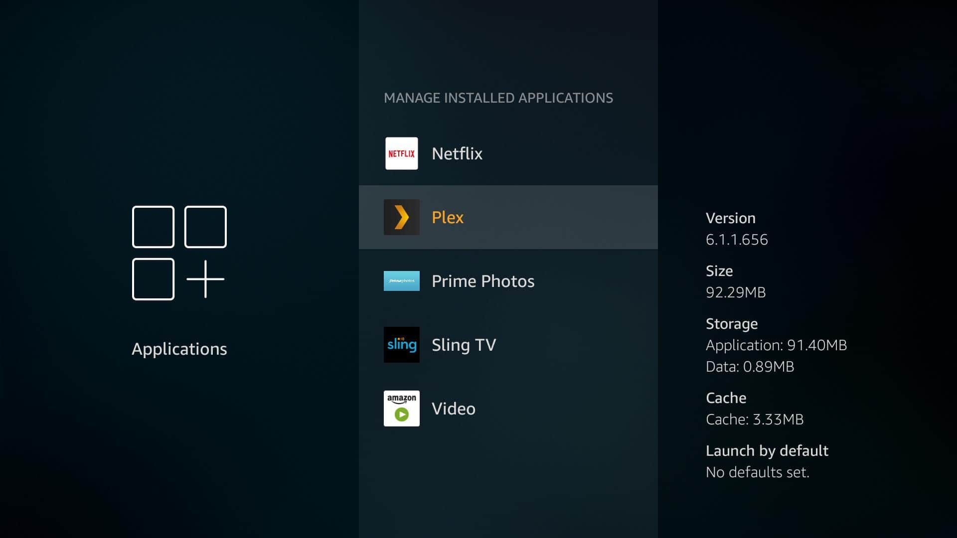 Fire TV Plex App - Uninstall 5