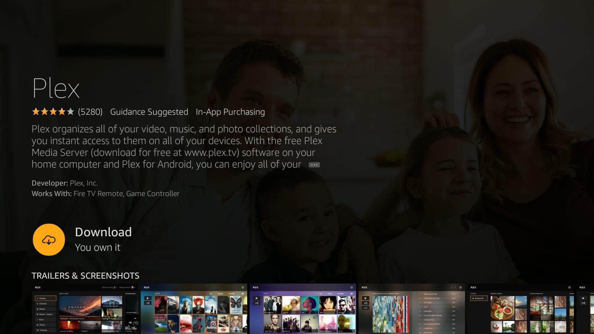 Installing and using the Fire TV Plex app | Comparitech