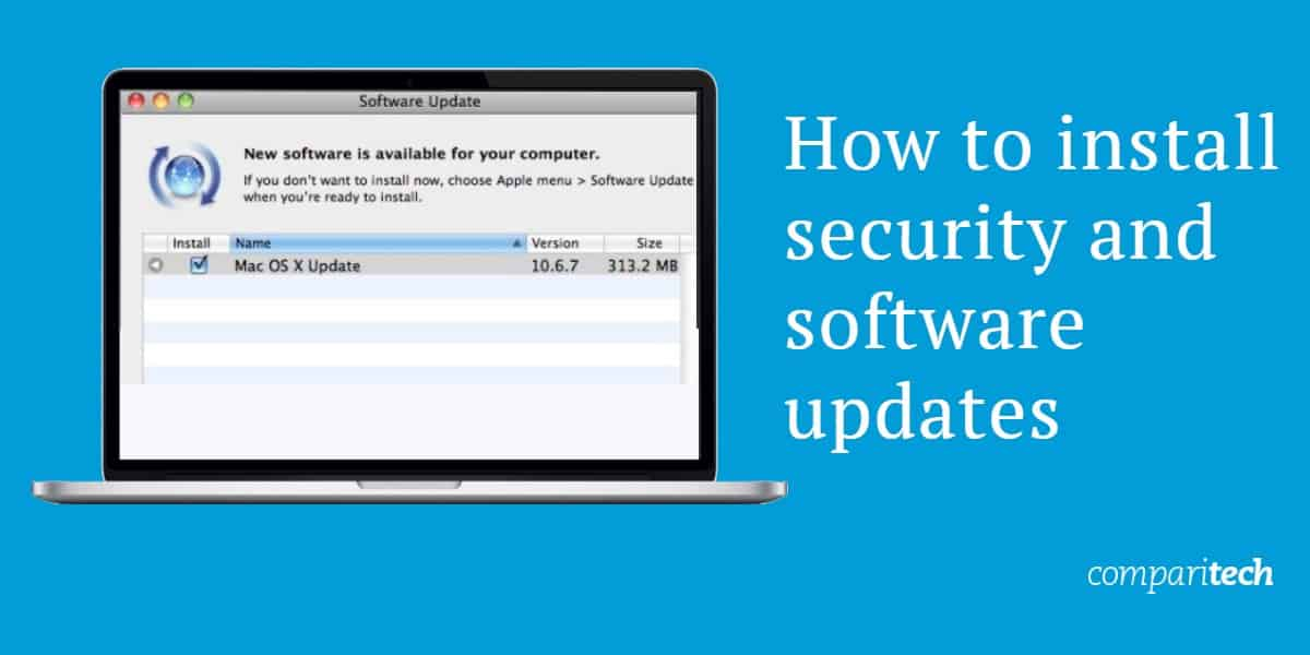How to install security and software updates