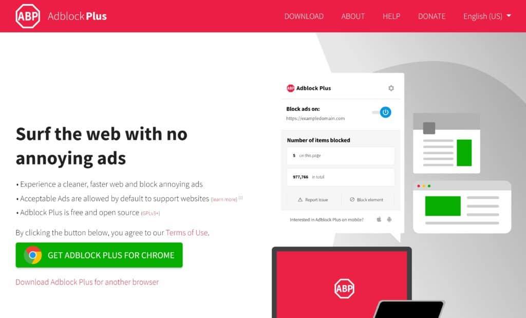 adblock plus browser tracking