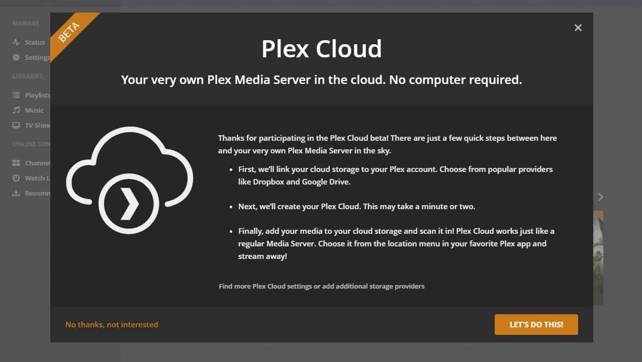 Plex Server - Plex Cloud 7