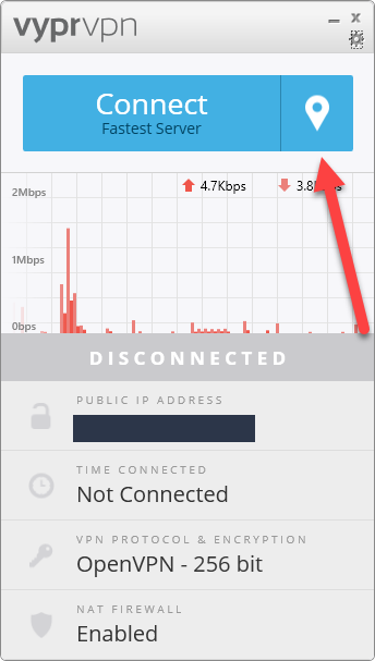 vyprvpn connection process