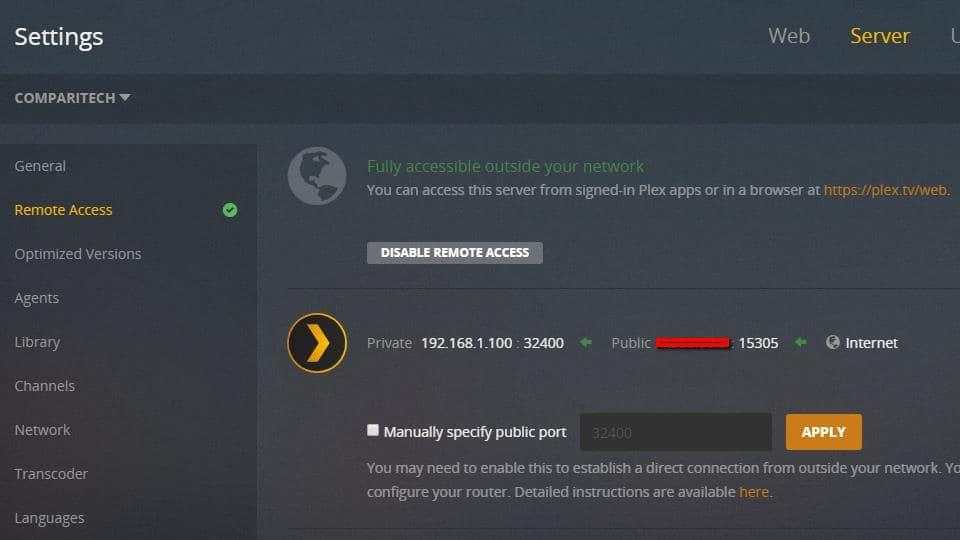 Plex Server - Remote Access 1