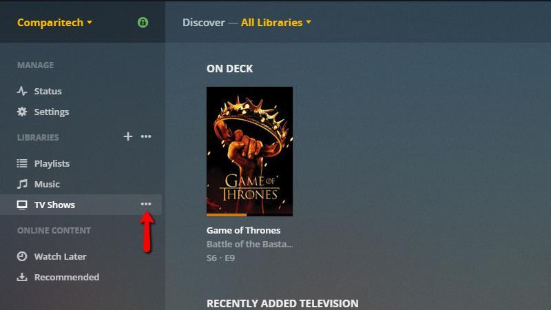 Plex Server - Remove Library 1
