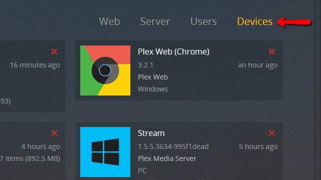 Plex Server - Remove Server 2