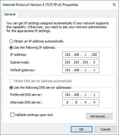 Plex VPN - Adapter Settings 2