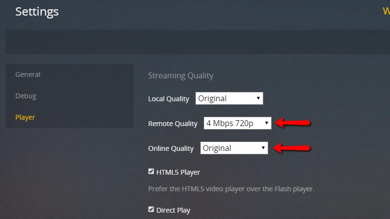 Plex Server - Streaming Quality 4