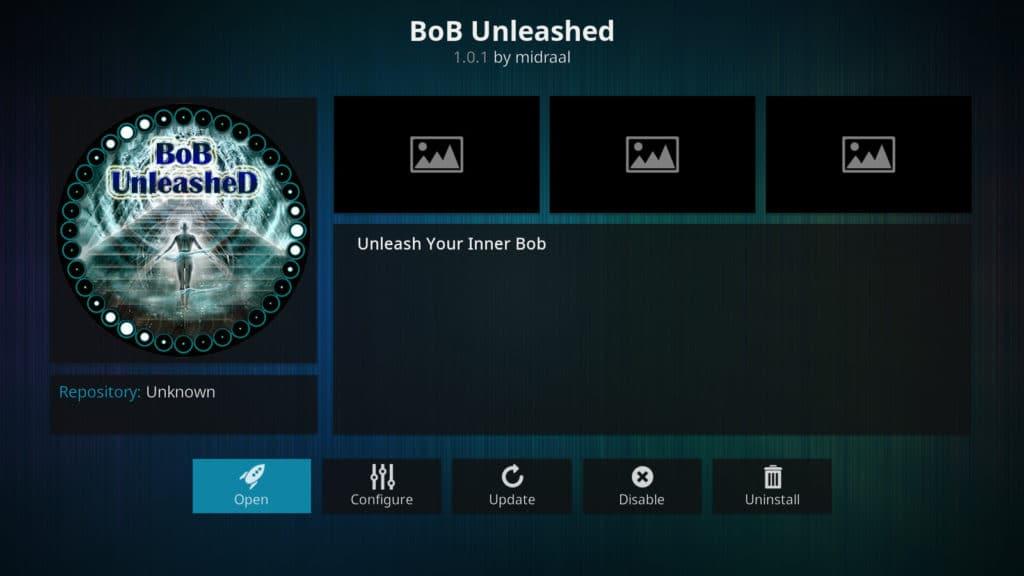 bob unleashed bob unrestricted bob kodi add-on
