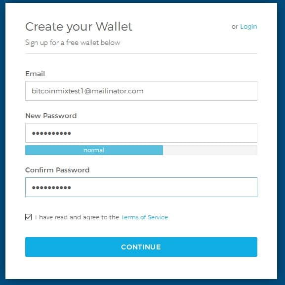 bitcoin wallet address sign up