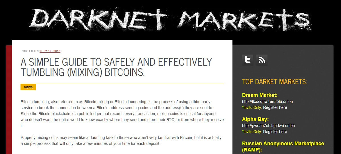Warning: Darknet Markets Bitcoin mixing tutorial is a phishing scam