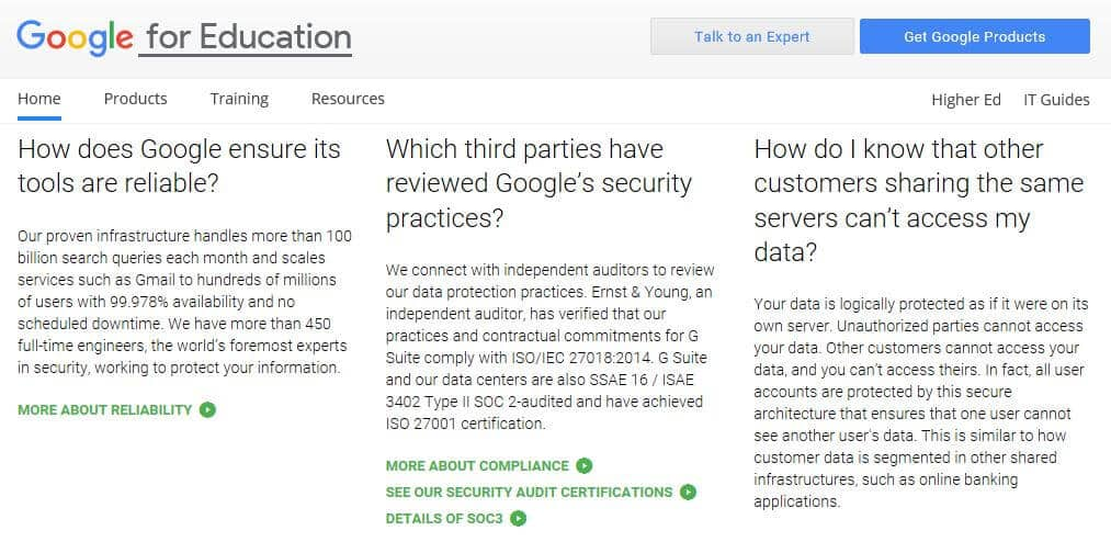 Some G Suite for Education FAQs.