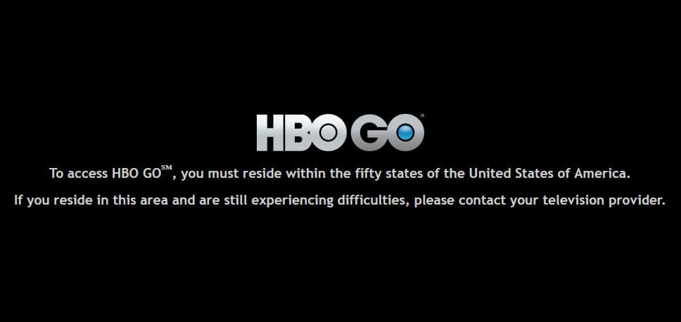 To access HBO GO℠, you must reside within the fifty states of the United States of America. If you reside in this area and are still experiencing difficulties, please contact your television provider