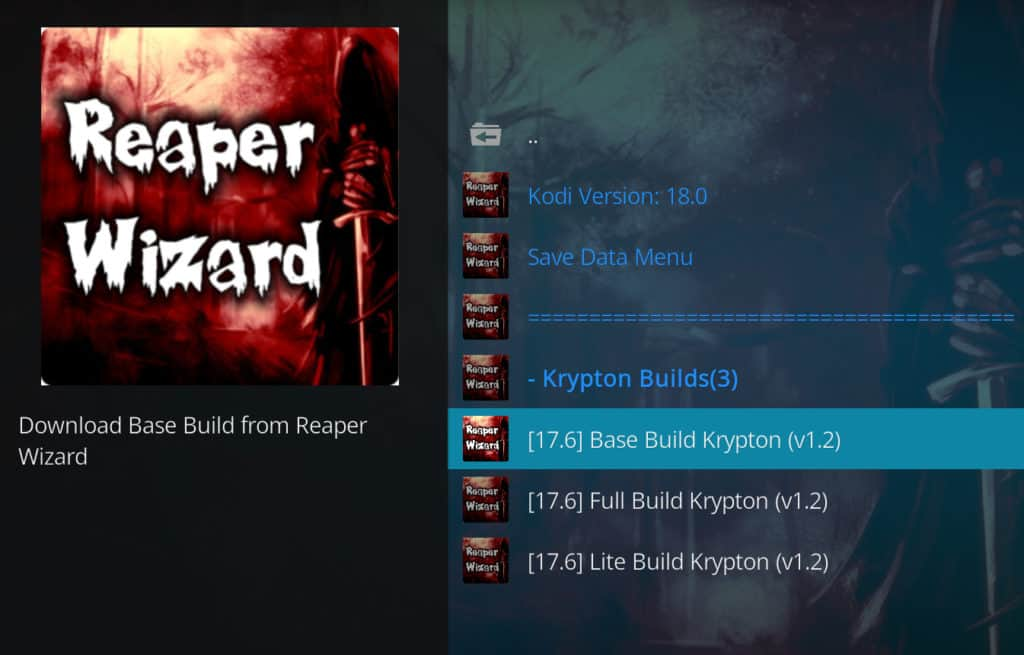 reaper builds kodi builds