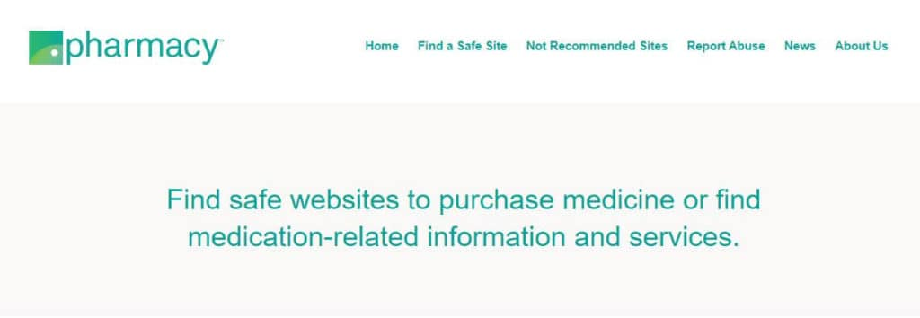 Safe Pharmacy initiative homepage.