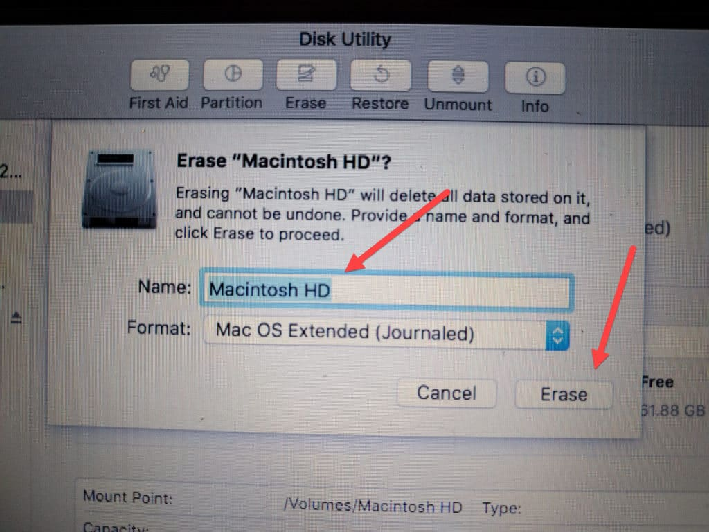 secure erase osx confirmation
