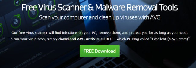 avg spyware removal