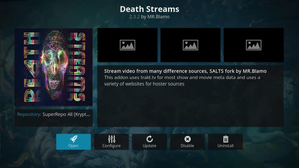death streams kodi addon