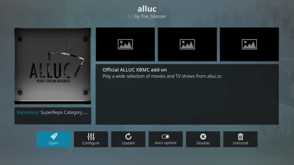Kodi Alluc add-on