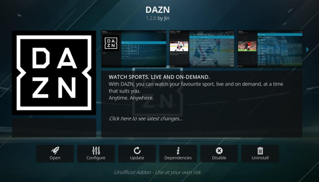 mlb 2019 on kodi DAZN