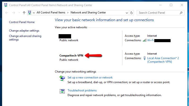 VPN virtual router set up