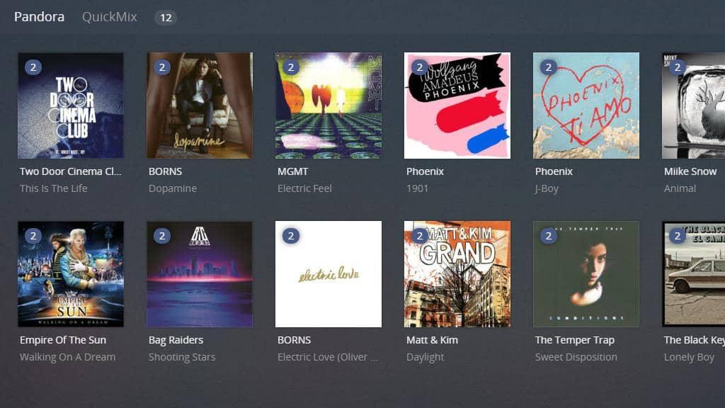 Plex plugins - Pandora