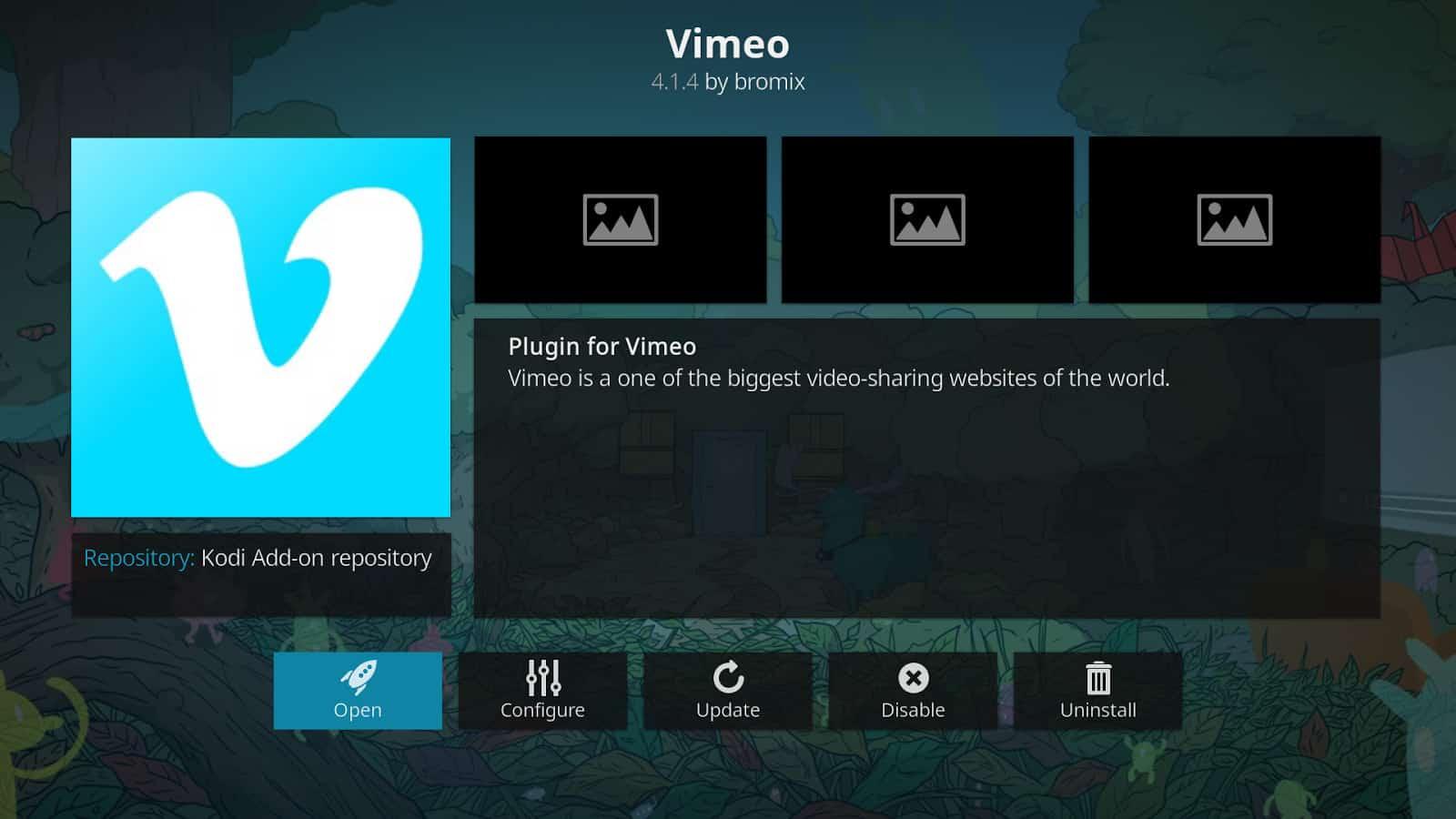 Vimeo Kodi addon