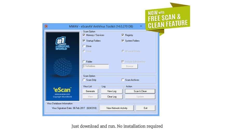 escan antivirus free