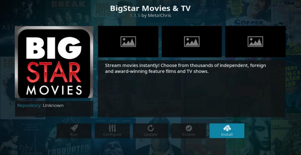 Big Star Movies Kodi Addon