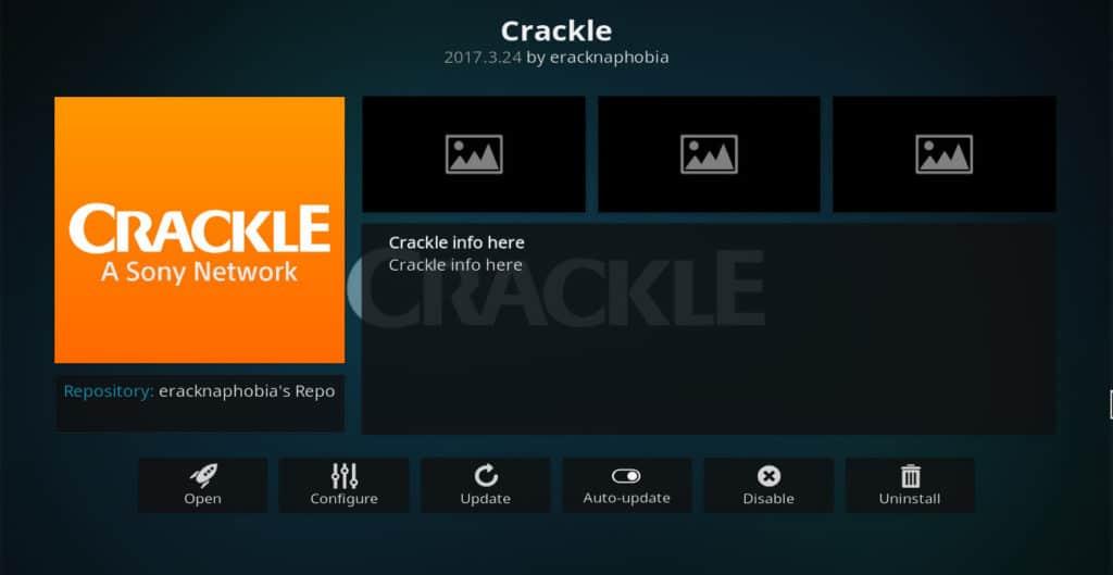 Install Kodi Crackle addon