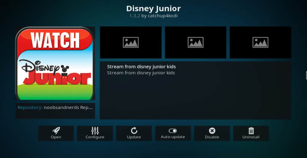 Disney Junior Kodi Addon