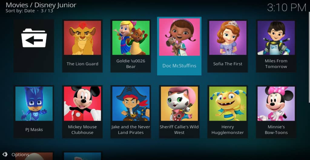 Cartoons on Kodi