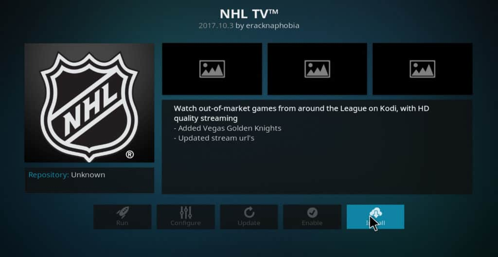 NHL TV kodi sports addons