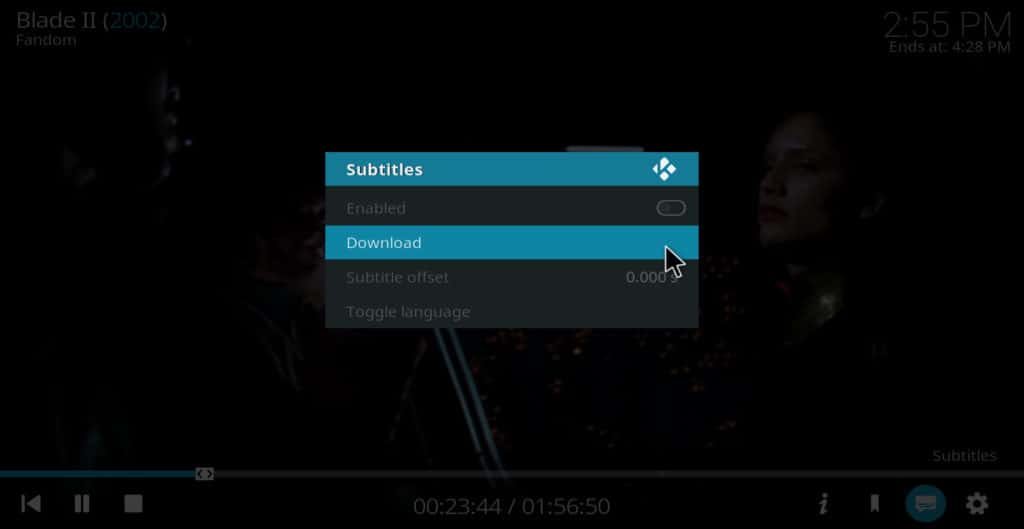 Kodi subtitles select download