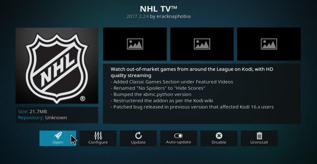 NHL.tv Kodi addon